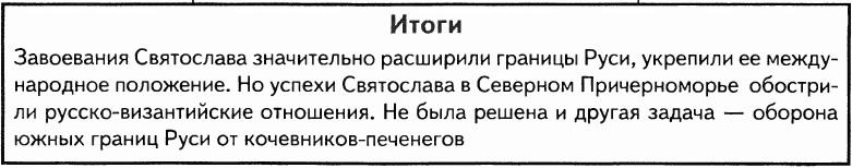 Итоги правления Святослава