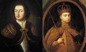 Петр I и Софья