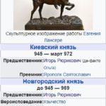 Таблица: политика Святослава (964-972 гг.)
