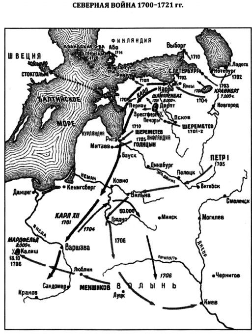 Карта Северной войны
