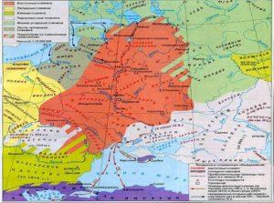 Карта восточнославянских племен