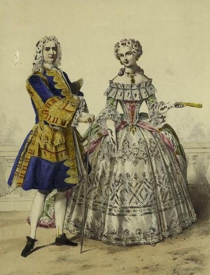 Одежда дворян при Петре 1
