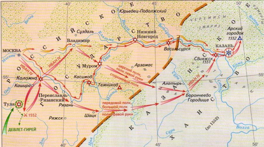 Казанские походы Ивана 4